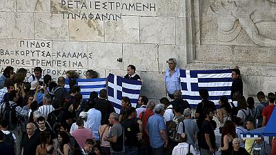 Angry Greeks accuse eurozone leaders of blackmail