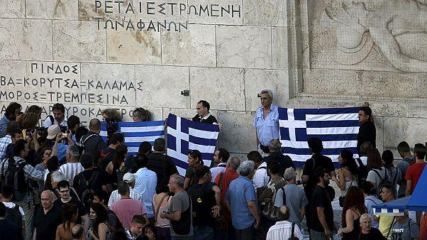يساريون يحتجون في اليونان ضد اتفاق أثينا مع الجهات الدائنة