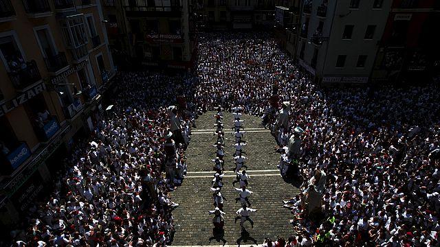 "اسبانيا: ختام مهرجان ""سان فيرمين"" للركض مع الثيران"