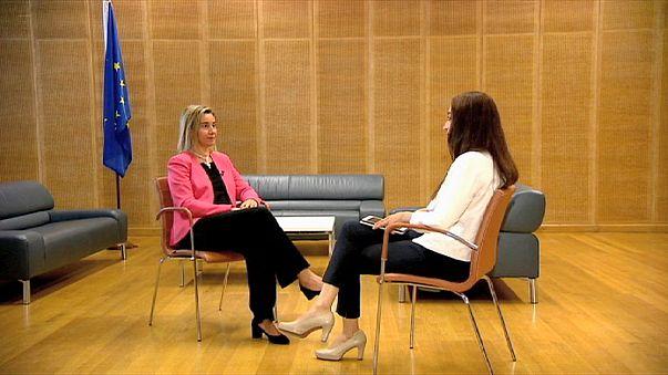 """Exclusiva- Mogherini: """"El acuerdo con Irán beneficia a la comunidad internacional"""""""