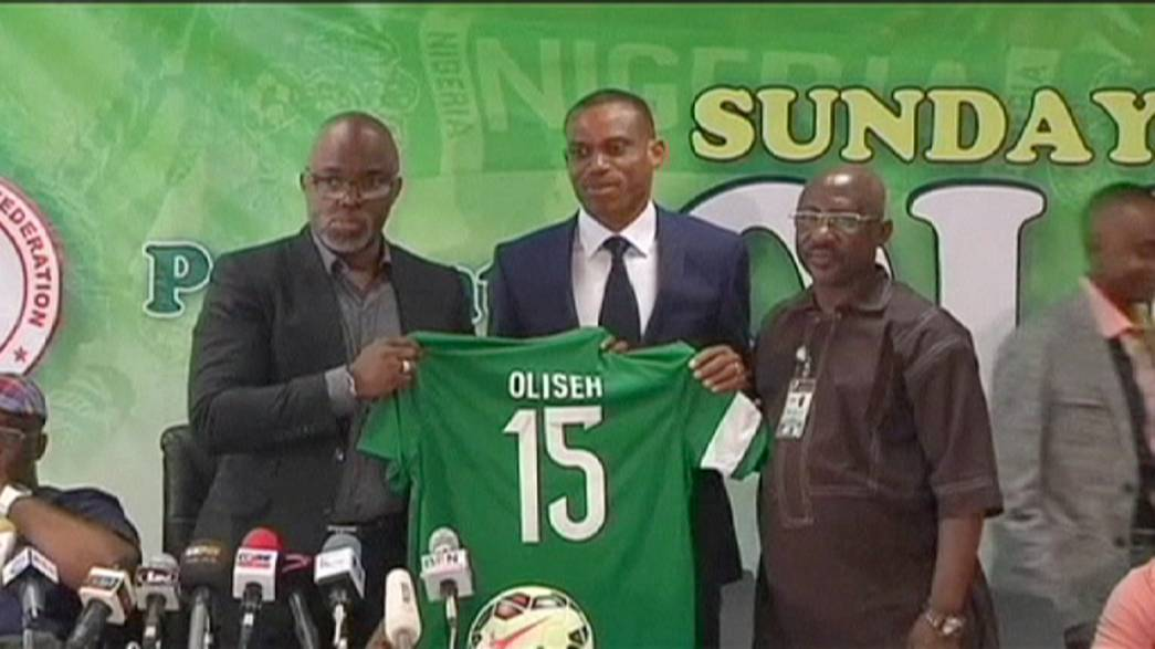 Former captain Oliseh presented as Nigeria coach