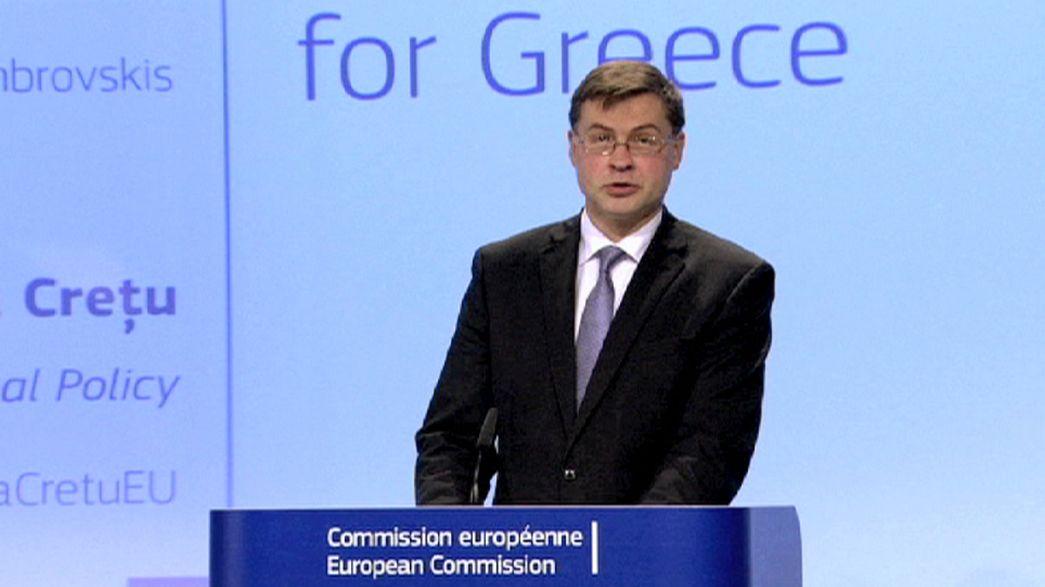 Bruxelles propose un financement d'urgence à la Grèce de 7 milliards d'euros