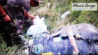 Új felvétel került elő az egy éve lelőtt malajziai gép roncsairól