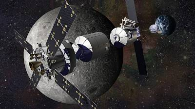Lockheed Martin\'s concept for a deep space habitat.
