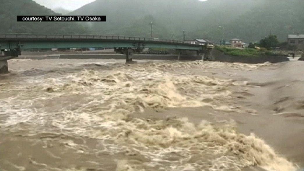 Thousands evacuated as typhoon Nangka makes landfall in Japan