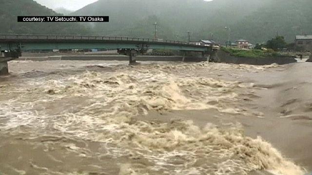 اليابان تدعو 370 شخص لاخلاء منازلهم بسبب الاعصار نانكا
