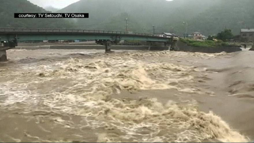 Thousands evacuated as typhoon Nangka makes landfall in Japan