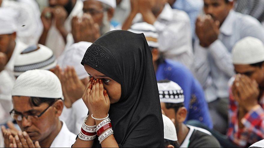 Müslüman coğrafyanın bir çok noktasında hüzünlü bayram