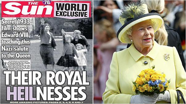 British tabloid defends release of Queen Nazi salute footage