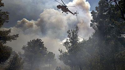 """Incêndios na Grécia: incêndios controlados mas risco ainda """"bastante elevado"""""""