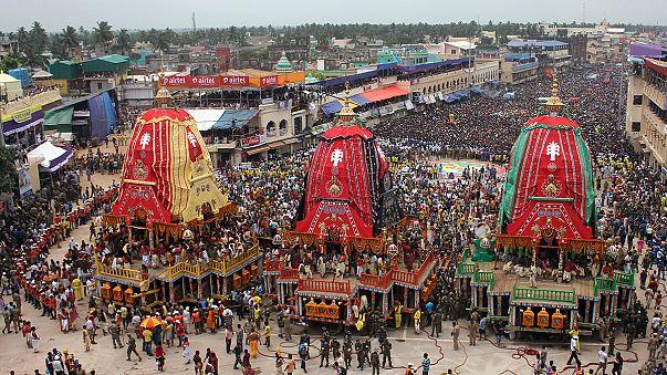 Final dramático para el festival indio de los Carros