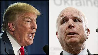 Donald Trump unmoved by protests over attack on John McCain's war record