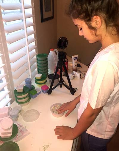 Casey Duke, 14, has created a slime-making factory and studio in her bedroom. She has 40,000 followers on Instagram after four months in the slime business.