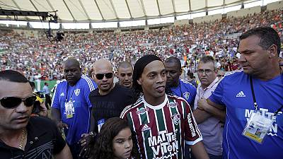 Former Brazil international Ronaldinho unveiled at Fluminense
