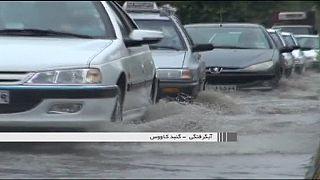 Una violenta tormenta de verano causa el caos en Irán