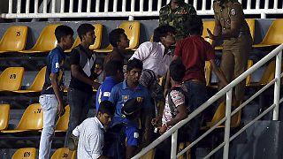 مناوشات خلال مباراة الكريكت بين سريلانكا وباكستان