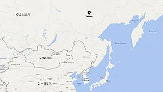 Image: Map showing Yakutsk, Russia