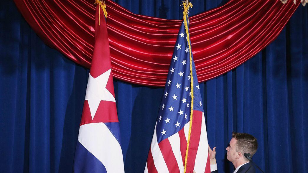 La bandera cubana ondea en la capital estadounidense