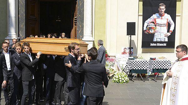 Les obsèques du pilote de F1 Jules Bianchi à Nice