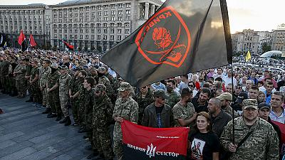 Ukraine Right Sector rallies against government in Kyiv