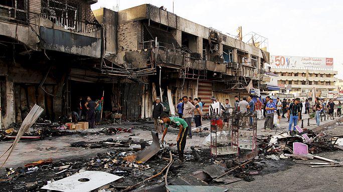 Bombatámadás- sorozat Irakban