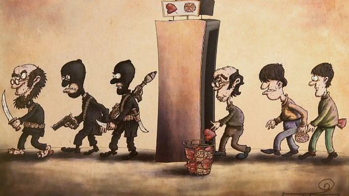 في طهران: معرض رسوم كاريكاتورية لفضح داعش