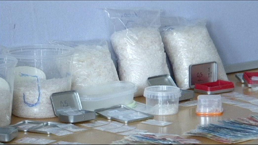 Apreensão recorde de cristais de metanfetamina na Alemanha