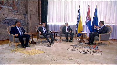 "Bosnia-Herzegovina presidency visits Serbia in effort to ""relax"" relations"