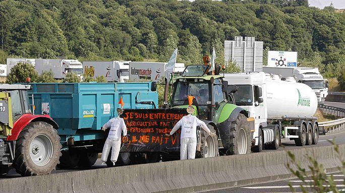 Las protestas de los agricultores causan grandes atascos en las carreteras francesas