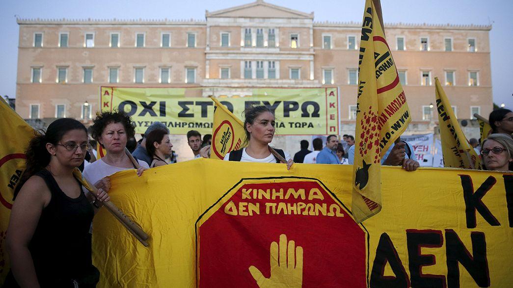 A megszorítások ellen tüntettek Athénban
