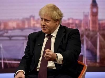 Britain\'s Foreign Secretary Boris Johnson speaks on one of the BBC\'s flagship political shows, Britain March 18, 2018.