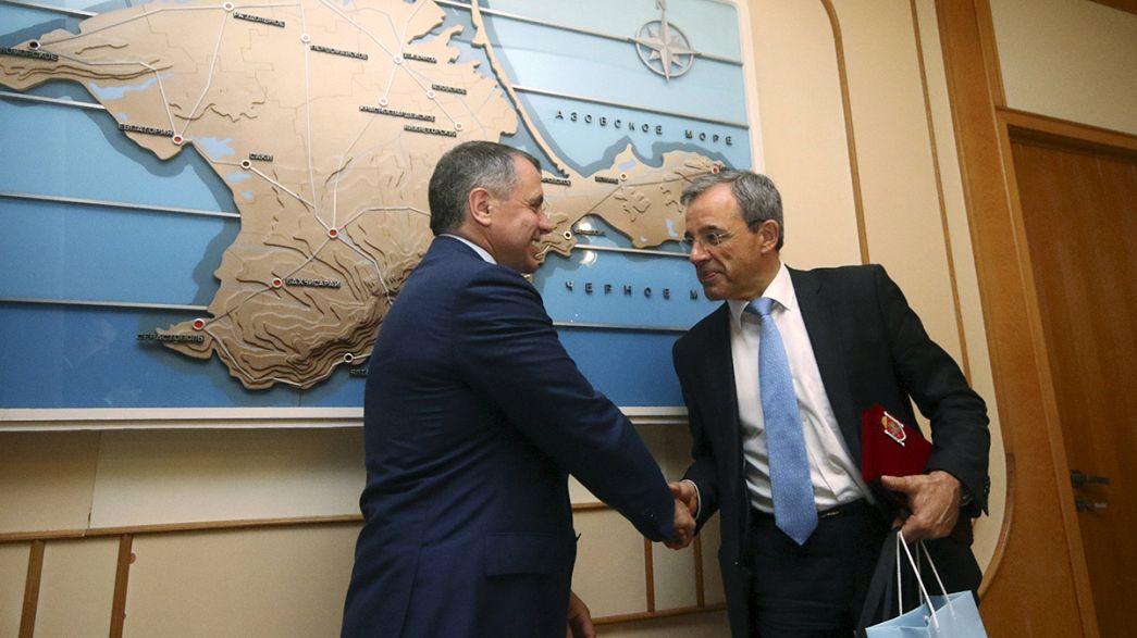 Französische Parlamentarier reisen auf die Krim