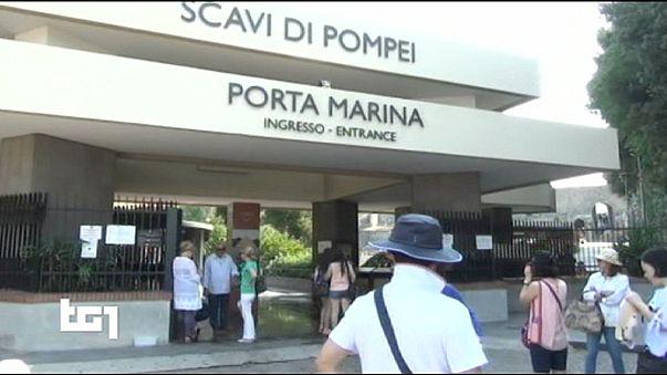 Enormes colas en las ruinas de Pompeya al bloquear su acceso tres sindicatos