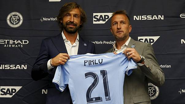 Football's glamour man Pirlo presented in new York