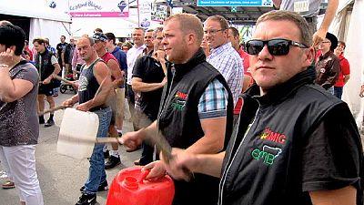 Los productores de leche se manifiestan en Bruselas