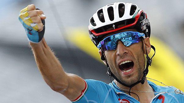 L'Italien Vincenzo Nibali remporte en solitaire la 19e étape du Tour