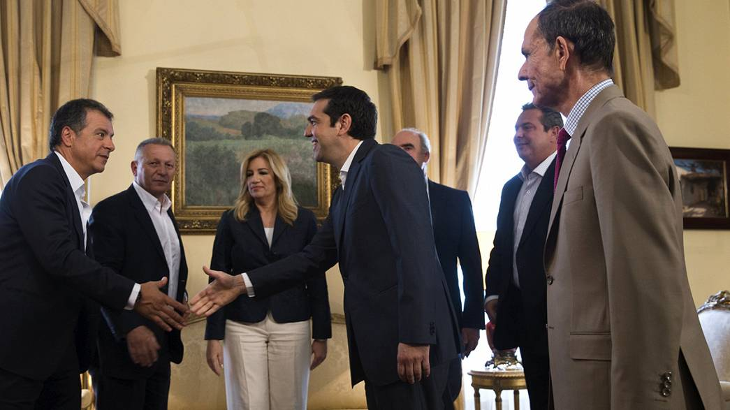 The future on the menu as Greek leaders attend presidential lunch