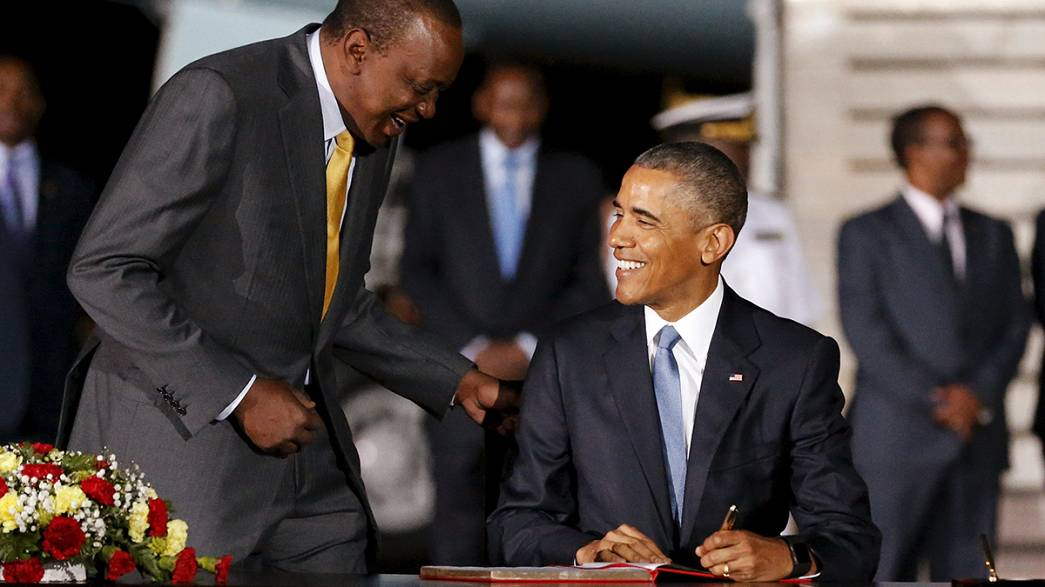 Viertägige Afrika-Reise: US-Präsident Obama in Kenia eingetroffen