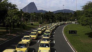 Manifestation contre Uber au Brésil