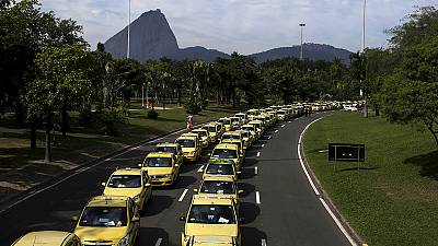 Protest against Uber in Brazil – nocomment
