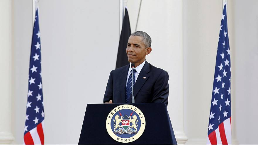 Obama in Kenya: a pledge to work together but also criticism