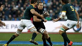 Die All Blacks besiegen im WM-Vorbereitungsspiel Südafrika.
