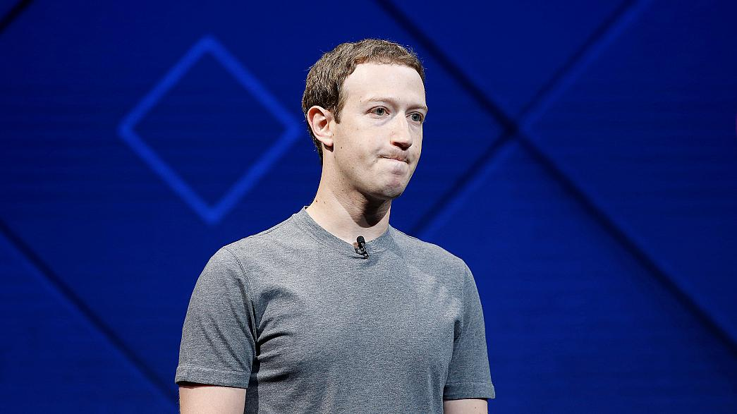 Image: Facebook founder and CEO Mark Zuckerberg speaks on stage during the