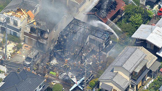 Small plane crash in Tokyo suburb leaves three dead