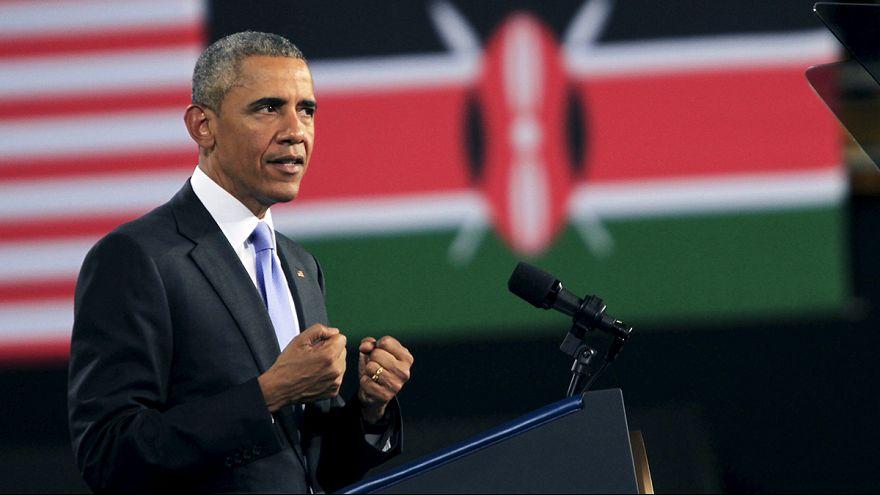Obama concluye una visita a Kenia en la que no se ha mordido la lengua