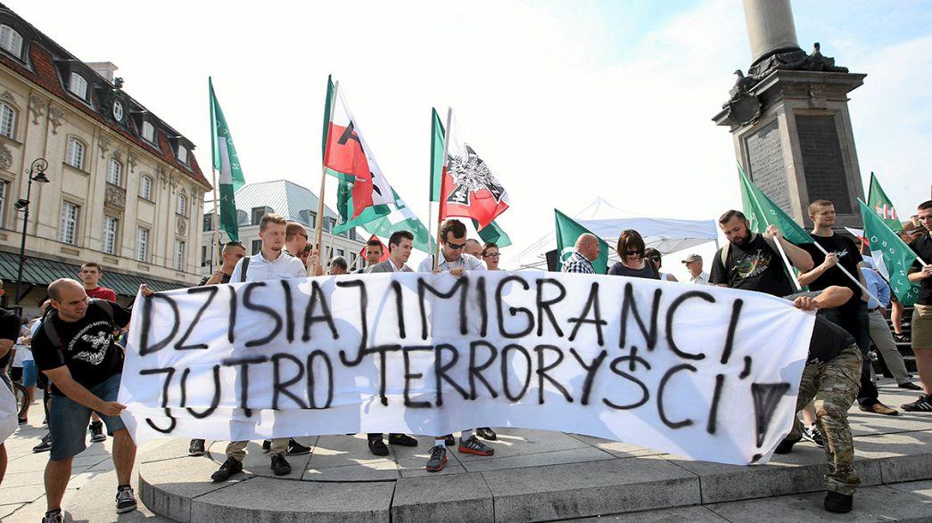 Polonia pro e contro immigrazione