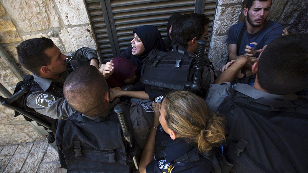 Disturbios entre palestinos y policía en Jerusalén durante la festividad de Tishá Beav