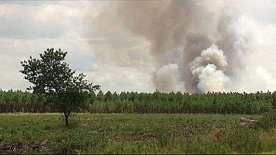 Francia: Fuego controlado en el bosque salvaje más grande de Europa