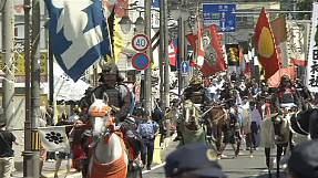 Samurai parade in Japan