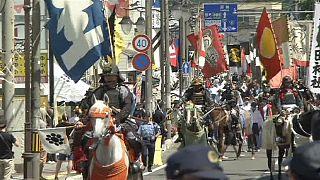 Parade de samouraïs au Japon